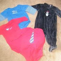 Mixed Lot of Baby Boy Clothes Gap Sleeper Long Sleeve Onesies 0-6 Months Photo