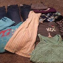 Mixture of Name Brand Clothes - Hollister Billabong Size Xs and 1 Photo