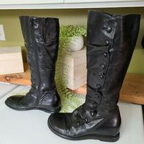 Mizz Mooz Wmns Sz 9.5 Bloom  Black Mid Calf Boots /buttons Vguc Photo