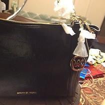 Mk Handbag Authentic Michael Kors Nwt High End Black Nwt Photo
