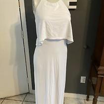 Mk3 Susana Monaco Womens Sleeveless Halter Neck Knit Maxi Dress White Size S Photo