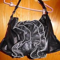 Mmr Black Zipper Decorated Black Purse Guc Photo