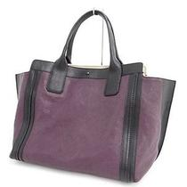 Mnt Auth Chloe Leather Alison Tote Bag Black Purple Colorblock 23110177300 7 Photo
