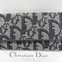 Mnt Auth Christian Dior Key Case 6 Ring Trotter Logo Black 31120060600 O027 Photo