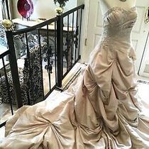 Moda Bella by P.c. Mary's Bridal Gown Wedding Dress Blush 12  New Photo