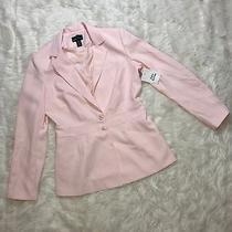 Moda International Career Blazer Women's Sz 14 Tall Long Sleeve Pink Blush  M Photo
