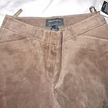 Moda International Christie Fit Suede Pants Chocolate Sz 6 Nwt Price Reduced Photo