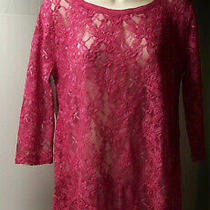 Moda International Victoria's Secret Top & Dkny Jeans Lace Top Size L - Lot of 2 Photo