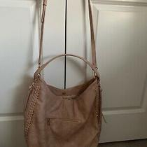Moda Luxe Zoey Vegan Leather Tote Chevron Weekend Bag Purse Hand Bag Blush Pink Photo