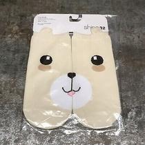 Modcloth Shine 32 Bear Face Beige Ankle Socks 100% Honest the Bear Korean Photo