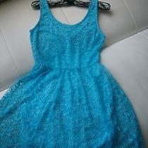 Modcloth Vintage Lulus Style Lace Crochet Blue Skater Dress Size S/xs Photo