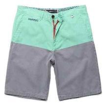 Modern Amusement Parker Blockead Shorts Aqua/gray Size 34 New Photo