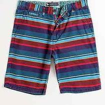 Modern Amusement Parker Multiply Striped Shorts  38 New Photo