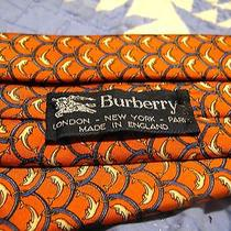 Modern Burberry London Tie -Recent Dolphin Design - Authentic Pre-Owned 250 Nw Photo