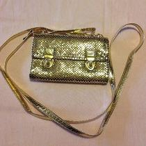 Modern Designer Whiting & Davis Gold Metal Mesh Evening Purse Photo