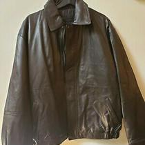 Modern Elements Men's 100% Lamb Leather Brown Jacket Size L