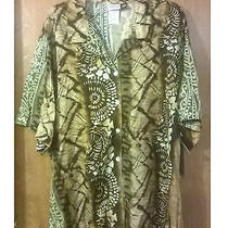 Modern Essentials - Khaki Express Button Front Blouse Size 26w Nwt Photo