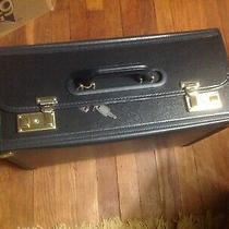 Modern Hard File Office Ipad/laptop Bag Black Hard Shell Brief Case lock&2 Keys Photo