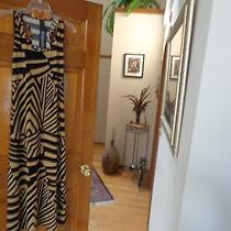 Modern Touch Black and Tan Geo Prism Racerback Maxi Dress - Large Photo