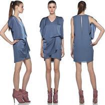 Modernist Chic Acne Pink Mallory Assymetrically Draped Shift Dress Photo