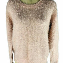 Molly Bracken Anthropologie Small/ Medium Fuzzy Sweater Lace Tie Back Baby Pink  Photo