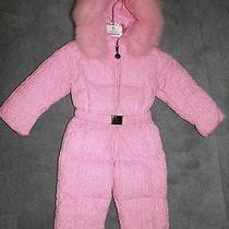 Moncler Baby  Luxury Snowsuit With Real Fox Fur  12 - 18 M  Photo