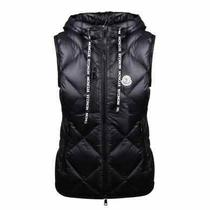 Moncler Black Logo Patch Quilted Gilet Brand Size 3 Photo