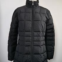 Moncler Black Quilted Down Puffer Zip Front Jacket Coat Womens Size 1 Small Photo