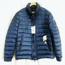 Moncler Blue Down Gergy Men's Zip Snap Button Coat Sz 6/xl Nwt Photo