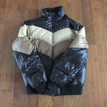 Moncler Brown Tag Down Jacket Blue X White Dhl Fedex F/s Photo