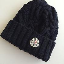 Moncler Cable Knit Navy Beanie Photo