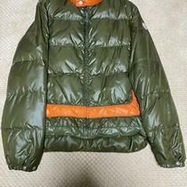 Moncler Cameroon Down Jacket Green X Orange Dhl Fedex F/s Photo
