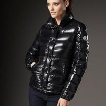 Moncler Clairy Ladies Black Lacquer Down Shiny Puffer Jacket Size 3 Large 895 Photo
