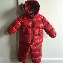 Moncler for Baby Girl Boy Red Authentic Size 9-12 Months Photo