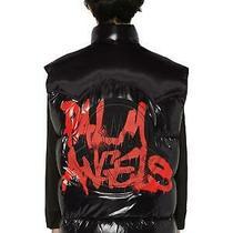 Moncler Genius Palm Angels Men's Black Palm Angels Buzz Nylon Down Vest Unisex Photo