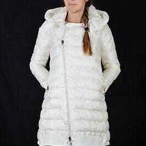 Moncler Gisele Women Coat White Color Size Large Authentic Photo