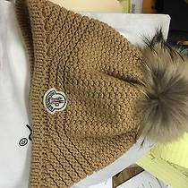 Moncler Hat With Fur Beige Photo