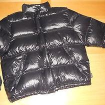 Moncler Lacquer Black Down Puffer Winter Quilted Jacket Coat Womens 2 Photo