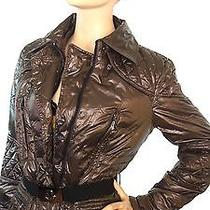 Moncler Lacquer Women's Quilted Puffer Down Belted Coat Jacket Size  Photo