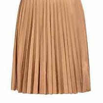 Moncler Ladies Beige Stretch Waistband Pleated Skirt Photo