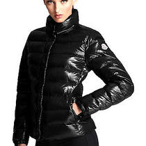 Moncler Ladies Clairy Lacquer Down Puffer Jacket Size 3 Large L Black 895 Photo
