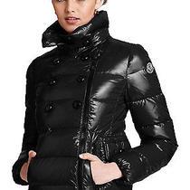 Moncler Ladies Daim Lacquer Short Down Coat Size 4 Black Xl 1295 Photo