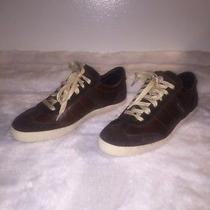 Moncler Low Top Brown Suede / Leather Men's Sneakers Size 40 Photo