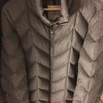 Moncler Man Feather Jacket Grey Photo