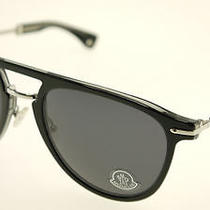 Moncler Mc514-02 Black & Silver / Gray Sunglasses Mc 514-02 Photo