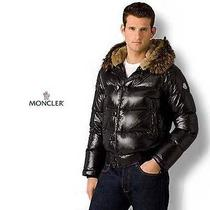Moncler Mens Down Jacket Bulgarie With Rabbit Hood Black Size 1 Photo