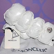 Moncler Puffa Manchons Arm Warmer Glove White Down Filled Quilted Puffer Limited Photo