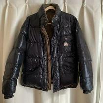 Moncler Reversible Down Jacket Black X Brown Dhl Fedex F/s Photo