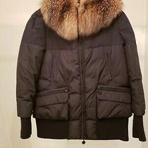 Moncler Somis Giubbotto Parka Puffer Down Jacket Coat Size 1 Added Real Fur Trim Photo