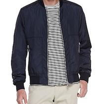 Moncler Striped Placket Bomber Jacket Navy Size 2 Small Photo